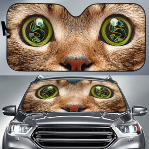 Cat Money Eyes Funny Car Sun Shades Auto