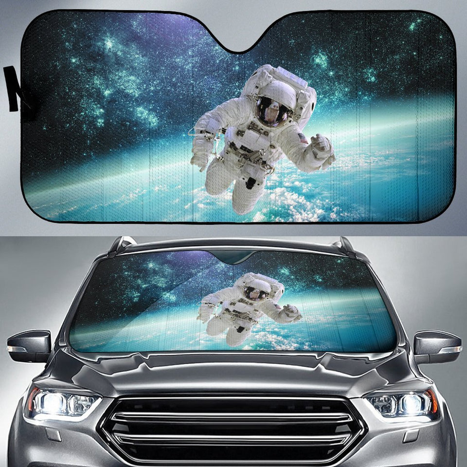 Astronaut In The Galaxy Car Auto Sunshades Auto Sun Shades