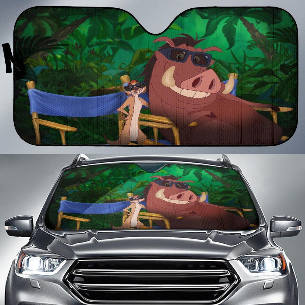 Lion King Timon And Bumba Auto Sun Shades