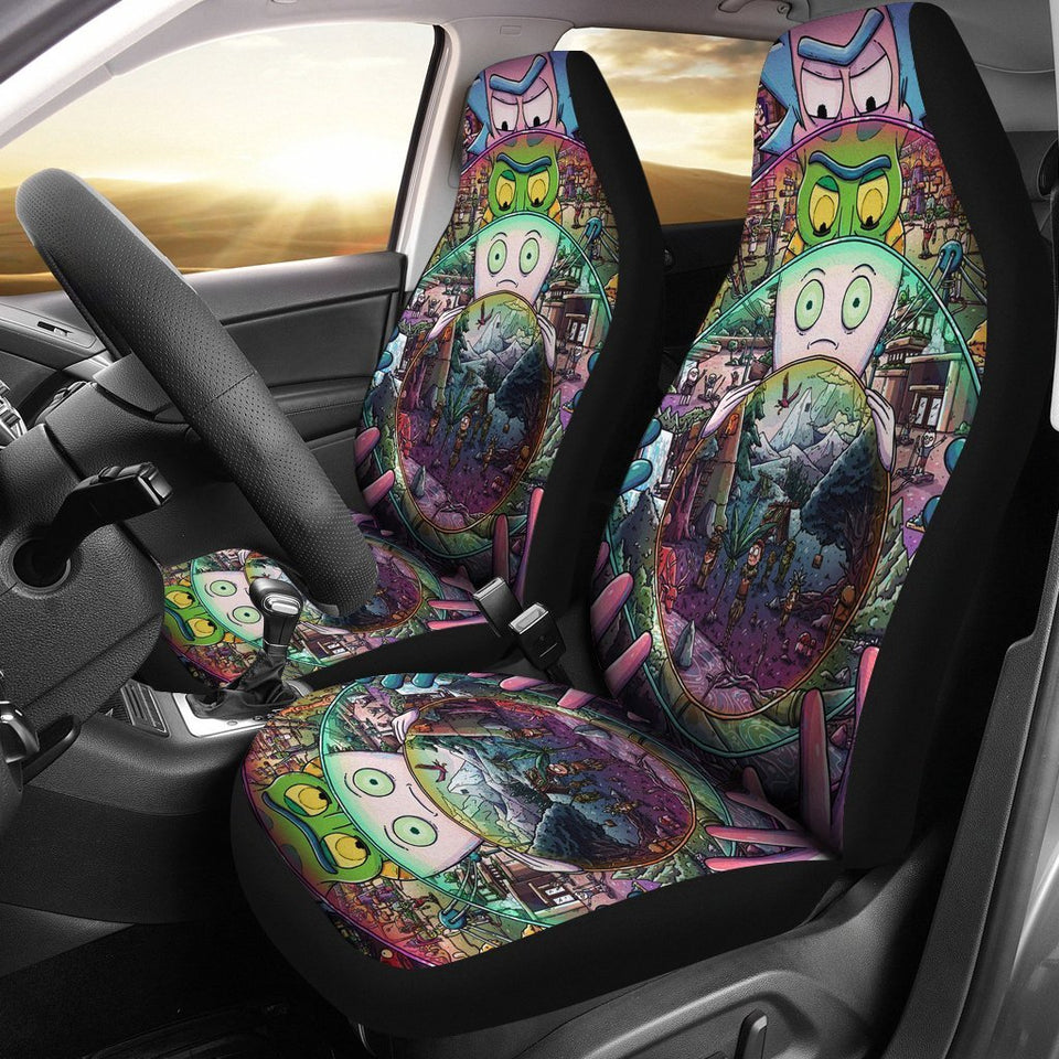 Car Seat Covers Rick And Morty Cartoon Fan Gift K1222