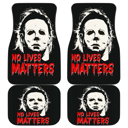 Michael Myers No Lives Mattters Car Floor Mats Movie H063020