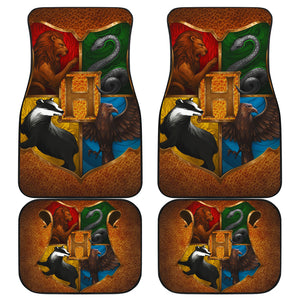 4 Houses Car Floor Mats Harry Potter Movie H050820