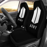 Army Bts Black Car Seat Covers