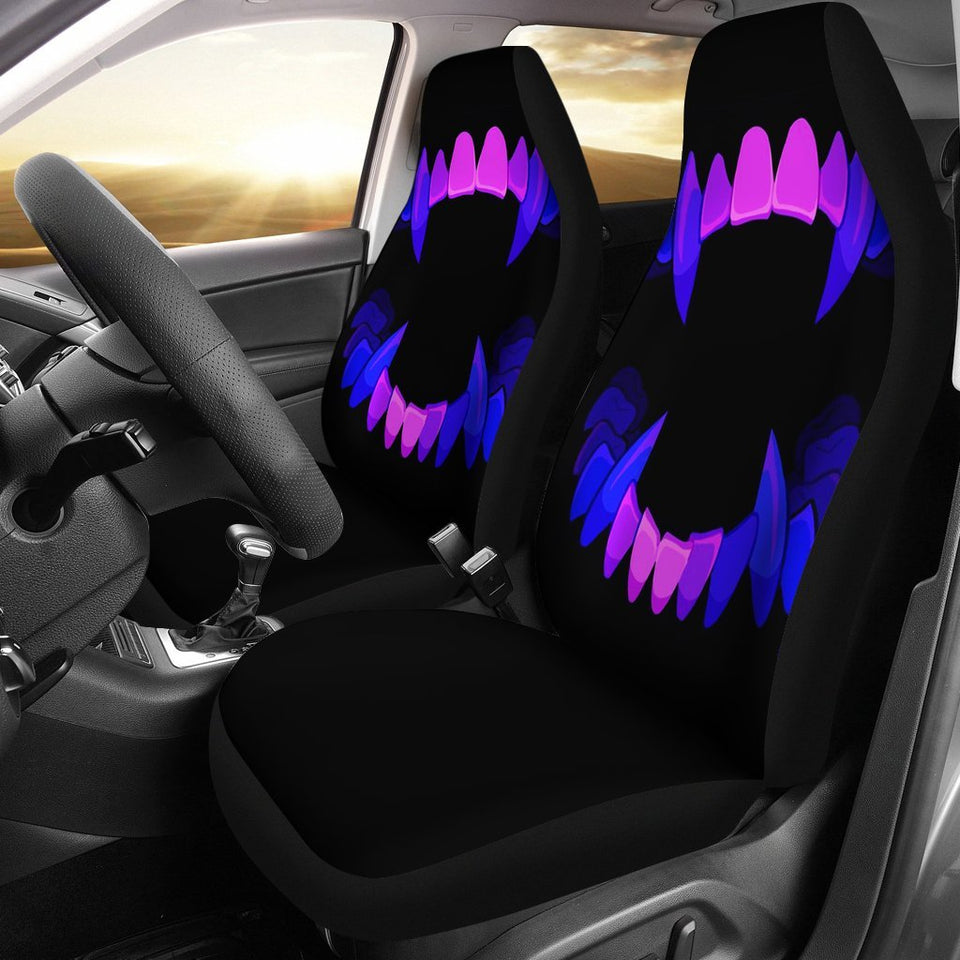 Scary Teeth Halloween Car Seat Covers