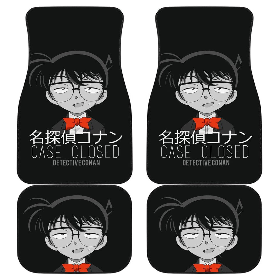 Detective Conan Case Closed In Black Theme Car Floor Mats 191021