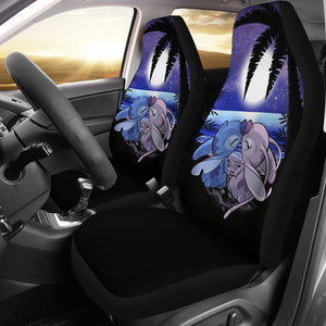 Stitch Love Disney Cartoon Car Seat Covers Funny Gift Ideas H0114