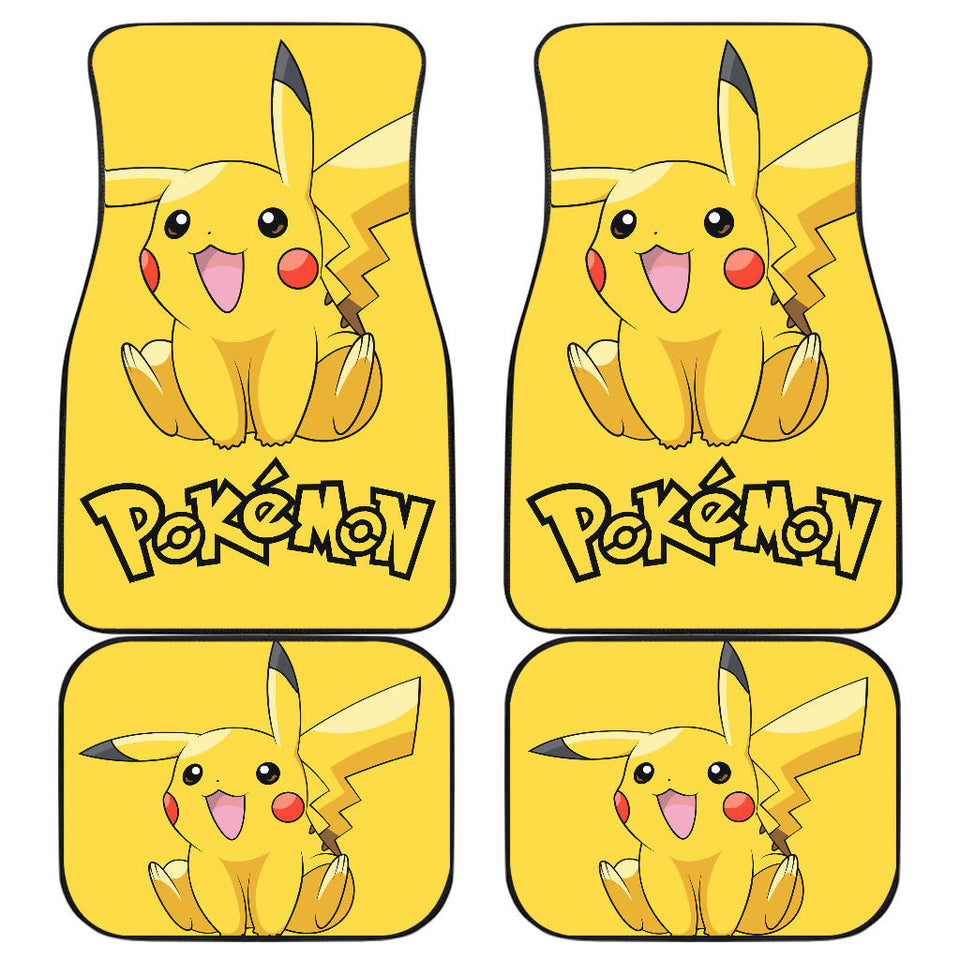 Happy Pikachu Pokemon Anime Fan Gift Car Floor Mats H200221