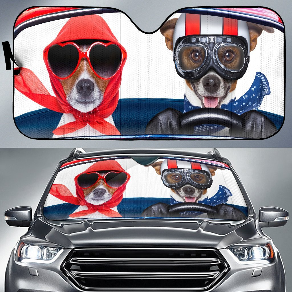 Family Dog Driving Auto Sun Shades