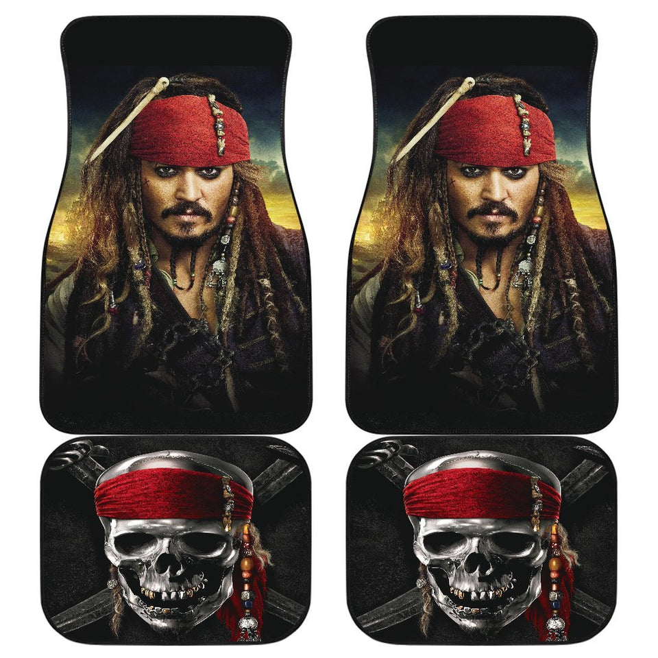 Pirates Of The Caribbean Jack Sparrow Car Floor Mats 191030