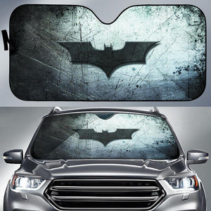 Batman Logo In Dark Theme Car Auto Sunshades Auto Sun Shades