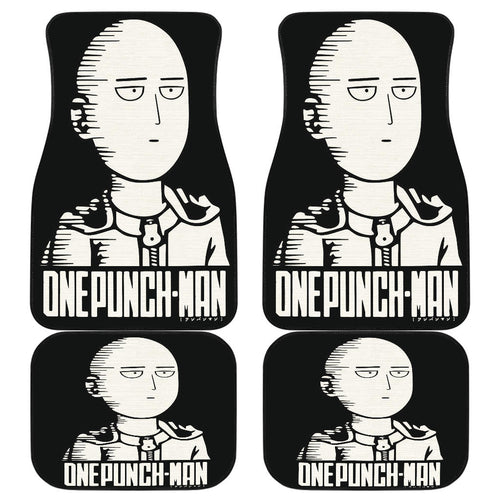 Saitama Art Car Floor Mats One Punch Man Manga H051820