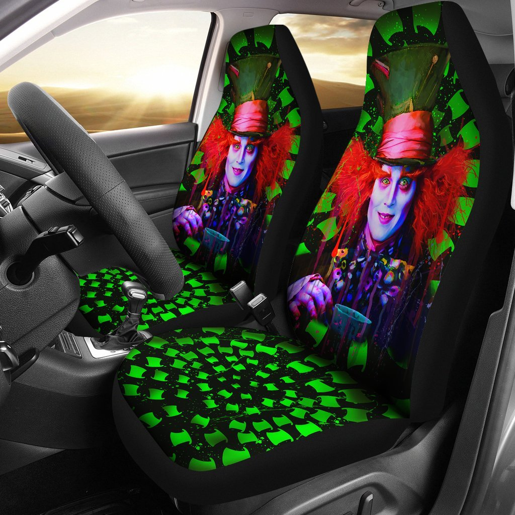 Mad Hatter Car Seat Covers Alice In Wonderland Movie Fan Gift T1227
