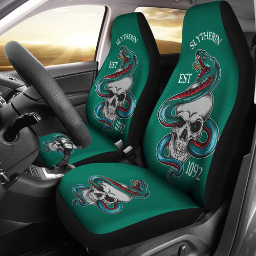 Harry Potter Car Seat Covers Slytherin Skull 1092 191212