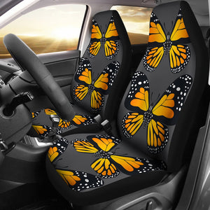 Orange Butterfly Car Seat Covers Amazing Gift Ideas T0201