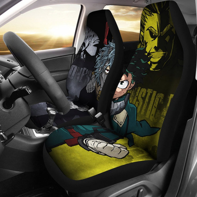 Airbag Compatiable Vans WQOIEGE Popular Anime My Hero Academia Universal Fit Decorative Car Seat Covers Set Simplicity Fit for Vehicles Cars Suvs