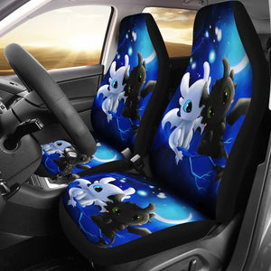 Toothless And The Light Fury Dragon Car Seat Covers