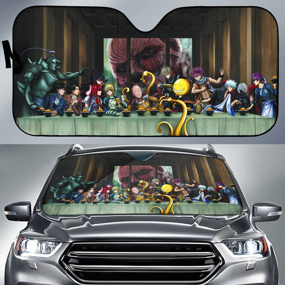 All Animes On Party Table Car Auto Sunshades Auto Sun Shades