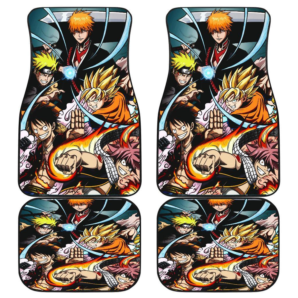 One Piece Naruto Fairy Tail Dragon Ball Anime Legends 2019 Car Floor Mats 191017
