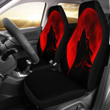 Red Moon Wolf Animal Car Seat Covers