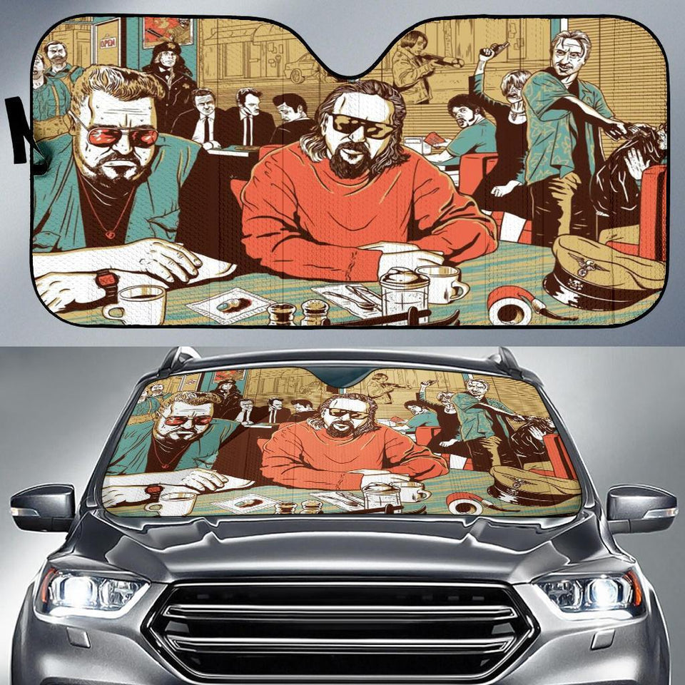 No Country For Old Men Big Lebowski Auto Sun Shade Shades