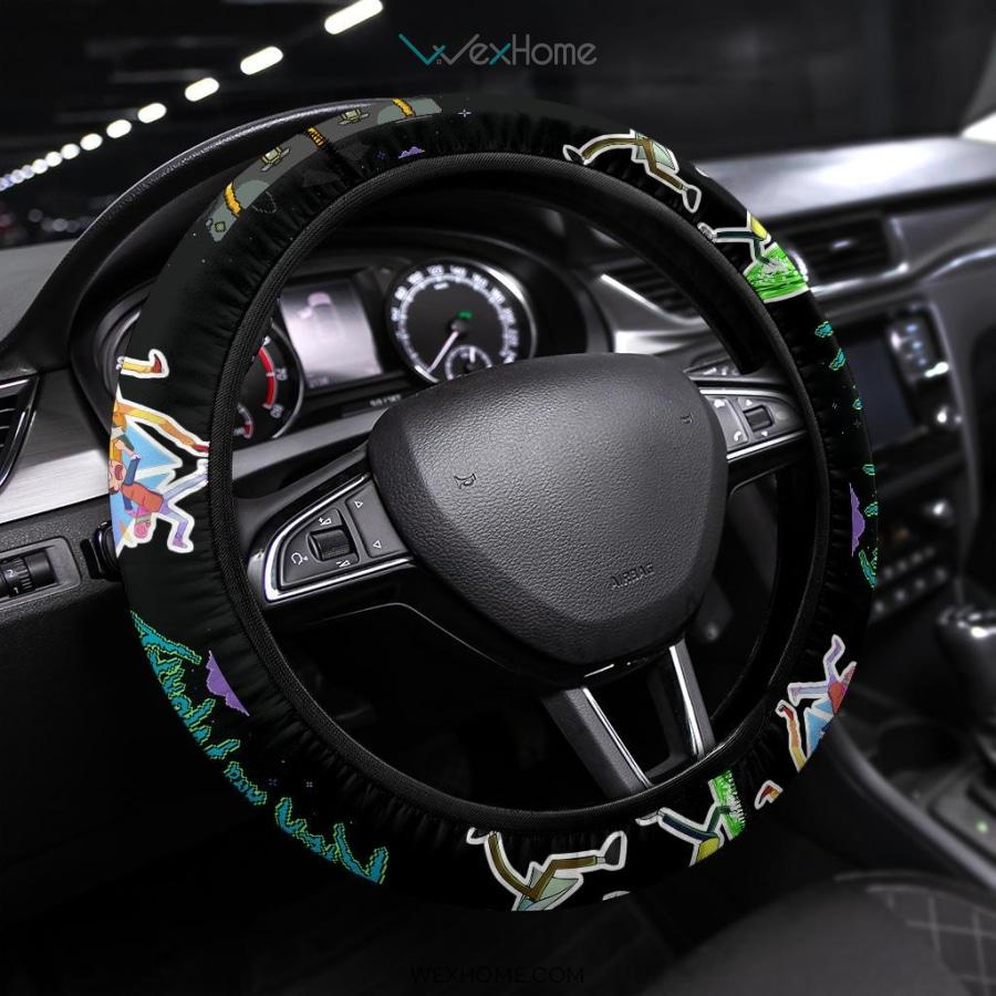 Rick And Morty Steering Wheel Cover | Rick & Morty Teleport Game Mode Steering Wheel Cover NT041304 GearForCar 1