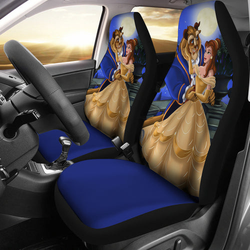 Belle And Beast Beauty And The Beast Car Seat Covers H0116