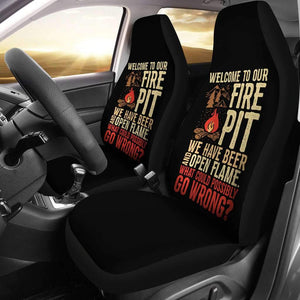 Beer And Open Flame Funny Camping Car Seat Covers Amazing Gift Ideas T032021