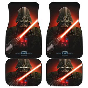 Darth Vader Star Wars In Red Theme Car Floor Mats 191021