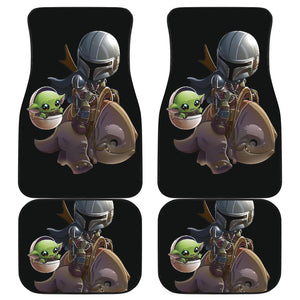 Baby Yoda And Mando Car Floor Mats The Mandalorian H0118