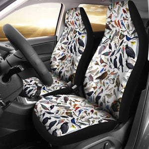 Bird Patterns White Animal Car Seat Covers Amazing Gift Ideas T031420