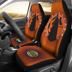 Star Wars Darth Vader Orange Spiral Car Seat Covers GFC042902