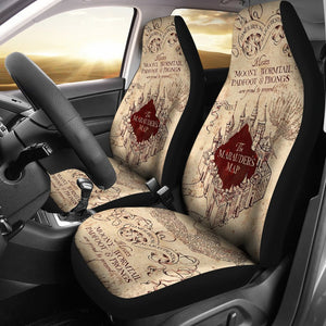 Marauders Map Harry Potter Movie Car Seat Covers T0204