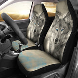 Blue Eye Wolf Animal Car Seat Covers