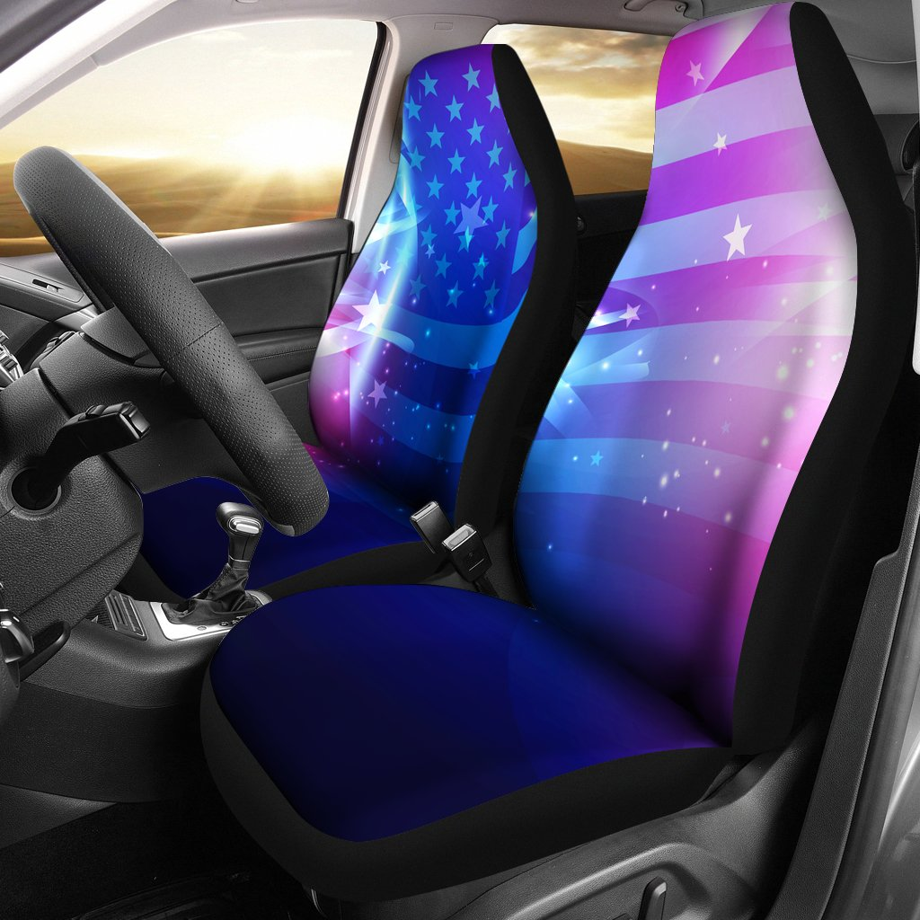 Abstract USA Flag Car Seat Covers T080220