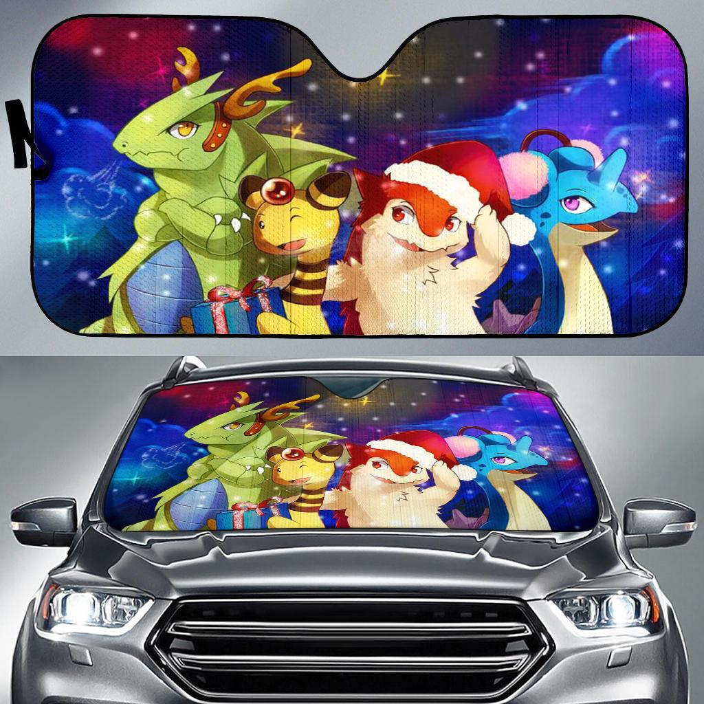 Christmas Pokemon Auto Sun Shades