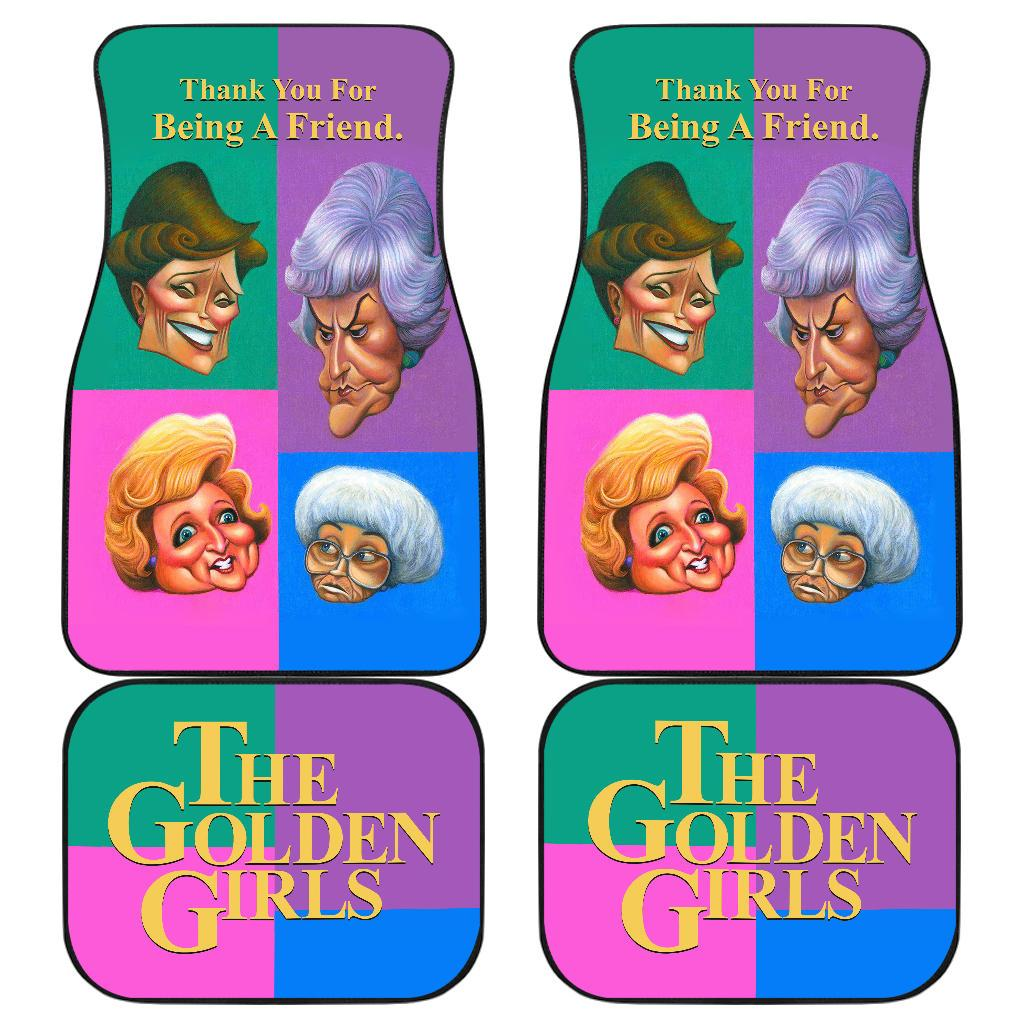 The Golden Girls Car Floor Mats Colorful Tv Show Fan Gifts H1222