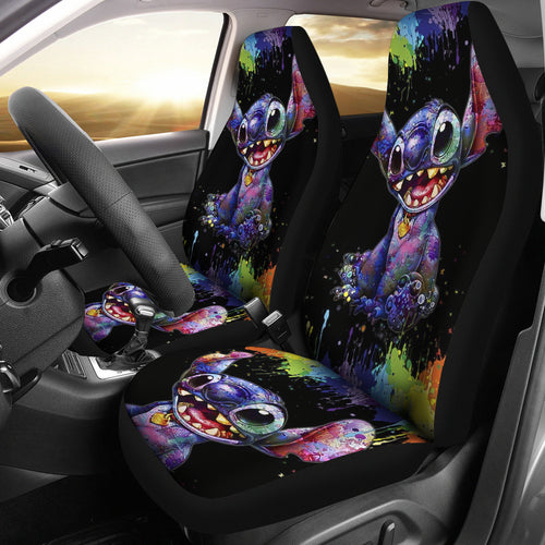 Stitch Painting Color Car Seat Covers Disney Cartoon Fan Gift H200307