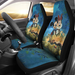 Mickey & Minnie Mouse Car Seat Covers Cartoon Fan Gift T0101