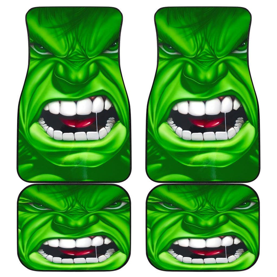 Hulk Angry Face Marvel Universe Car Floor Mats 191023