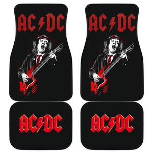 Acdc Band Logo Guitarist In Black Theme Car Floor Mats 191017