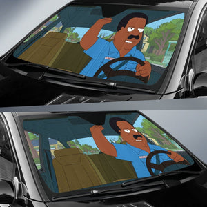Family Guy Cleveland Brown Falling Auto Sun Shades