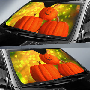 Halloween Pumpkin Car Sun Shade Auto Sun Shades