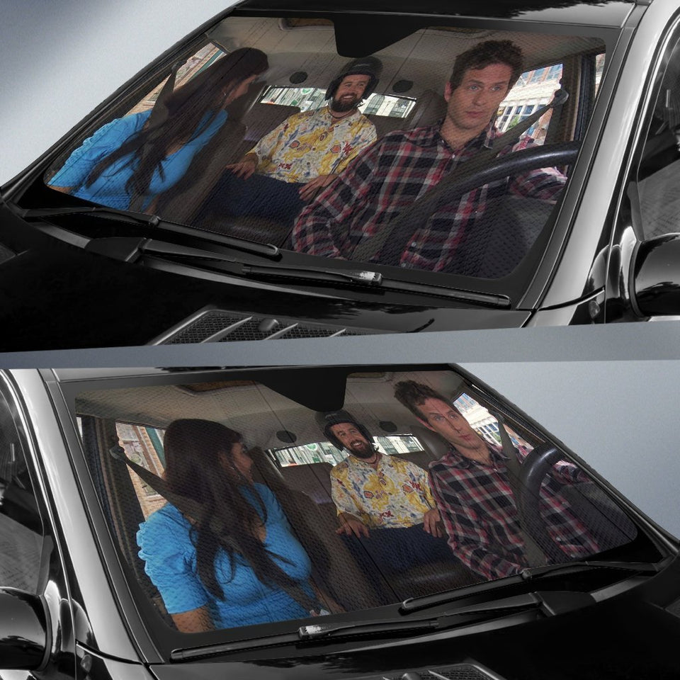 Its Always Sunny In Philadelphia Driving Funny Auto Sun Shade Shades