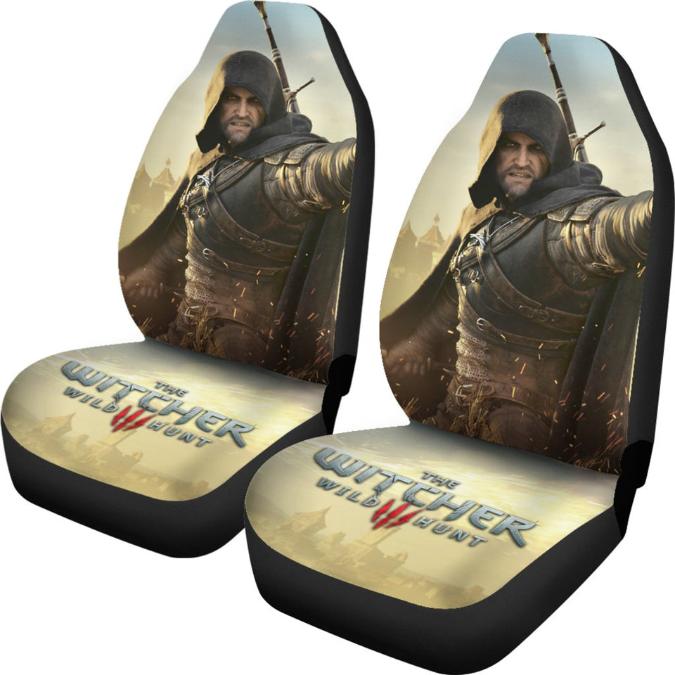 The Witcher 3: Wild Hunt Geralt Car Seat Covers Game H1228