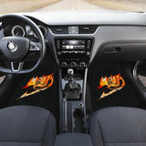 Fairy Tail Anime Logo In Black Theme Car Floor Mats 191022