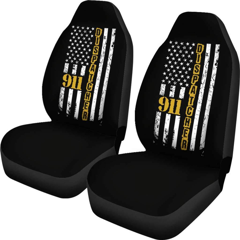 911 Dispatcher Flag USA Car Seat Covers T032021