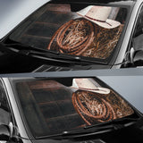 Hat & Ropes Of Cowboy Car Auto Sunshades Auto Sun Shades
