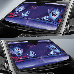 Onward Funny Car Sun Shades Disney Pixar Movie H032720