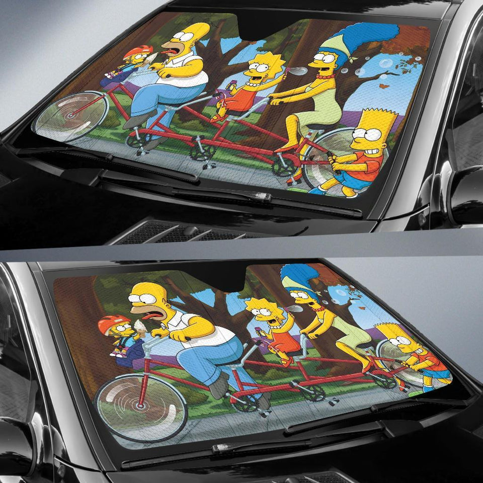 The Simpson Family Car Sun Shades Auto