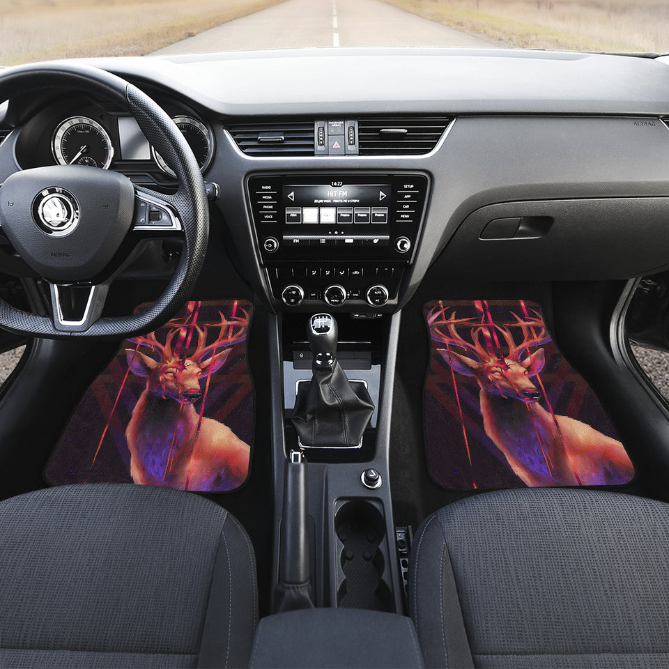 Deer Art Design Car Floor Mats  Animals Fantasy H0119
